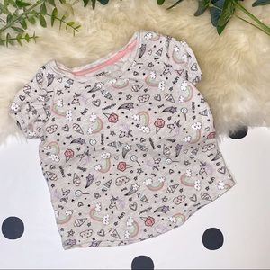 🧸5 FOR $30🧸 GEORGE Unicorn Graphic Print T - 2T